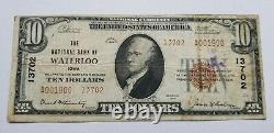 1929 National Bank of Waterloo Iowa $10 Note National Currency #13702 T2