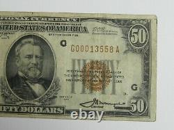 1929 National Currency $50 Federal Reserve Bank of Chicago Illinois #8008