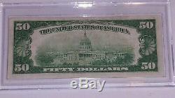 1929 Series $50 Dollar Bill Note Currency National Bank Of Butler PA #F000427A