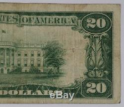 1929 T2 $20 National Bank Note Currency Montgomery Alabama Circ Very Fine (722)