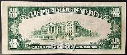 1929 Ten Dollars Nat'l Currency, The Florida National Bank of Jacksonville, FL