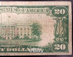 1929 Twenty Dollars Nat'l Currency, the Joliet National Bank, Joliet, Illinois