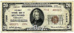 1929 Type 2 First National Bank of Bellwood PA Scarce National Currency CH 7356