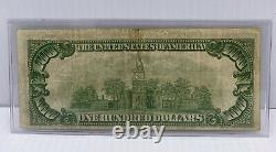 1929 US $100 National Currency Note. Federal Reserve Bank Richmond ULTRA LOW S/N
