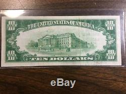 1929 series$10.00 National Currency From The National Bank Of Lansing Michigan