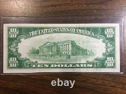 1929 series$10.00 National Currency From The National Bank Of Lansing R. E. Olds