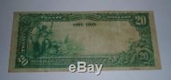 $20 1902 Bentonville Arkansas AR National Currency Bank Note Bill! Ch #8135 VF
