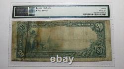 $20 1902 Dayton Washington WA National Currency Bank Note Bill Ch. #2772 PMG F12