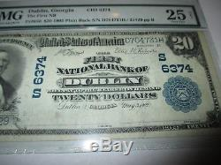 $20 1902 Dublin Georgia GA National Currency Bank Note Bill! Ch. #6374 PMG VF