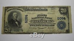 $20 1902 Ebensburg Pennsylvania PA National Currency Bank Note Bill Ch. #5084
