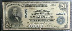 $20 1902 Galveston Texas TX National Currency Bank Note Ch #12475 PCGS 12 FINE