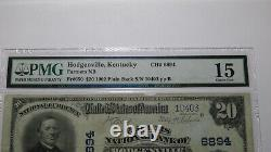 $20 1902 Hodgenville Kentucky KY National Currency Bank Note Bill! Ch #6894 F15