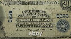 $20 1902 Muskogee Oklahoma OK National Currency Bank Note Bill Ch. #5236 RARE