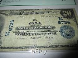 $20 1902 Pana Illinois IL National Currency Bank Note Bill! Ch. #6734 Fine! PCGS