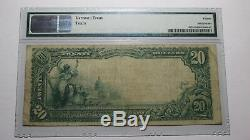 $20 1902 Pontotoc Mississippi MS National Currency Bank Note Bill Ch. #9040 PMG