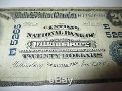 $20 1902 Wilkinsburg Pennsylvania PA National Currency Bank Note Bill! Ch. #5265