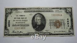 $20 1929 Beaver Falls Pennsylvania PA National Currency Bank Note Bill! #4894 XF