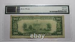 $20 1929 Bluefield West Virginia WV National Currency Bank Note Bill #6674 PMG