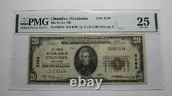 $20 1929 Chandler Oklahoma OK National Currency Bank Note Bill Ch #6269 VF25