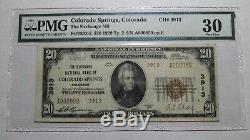 $20 1929 Colorado Springs Colorado CO National Currency Bank Note Bill 3913 VF30