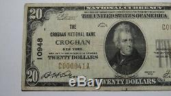 $20 1929 Croghan New York NY National Currency Bank Note Bill Ch. #10948 VF