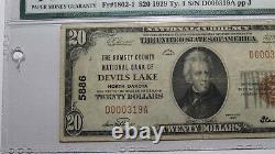 $20 1929 Devils Lake North Dakota ND National Currency Bank Note Bill #5886 VF25