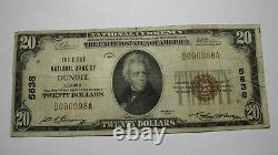 $20 1929 Dundee Illinois IL National Currency Bank Note Bill! Ch. #5638 FINE+