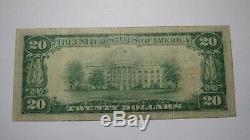 $20 1929 Escanaba Michigan MI National Currency Bank Note Bill! Ch. #3761 VF