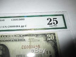 $20 1929 Everett Washington WA National Currency Bank Note Bill! #11693 VF! PMG