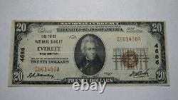 $20 1929 Everett Washington WA National Currency Bank Note Bill Ch. #4686 VF+