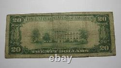 $20 1929 Laconia New Hampshire NH National Currency Bank Note Bill #1645 RARE