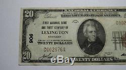 $20 1929 Lexington Kentucky KY National Currency Bank Note Bill Ch. #906 XF+
