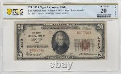 $20 1929 Logan Utah National Currency Bank Note Bill Charter #4670 RARE! PCGS