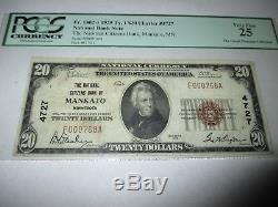$20 1929 Mankato Kansas KS National Currency Bank Note Bill! Ch. #4727 PCGS VF
