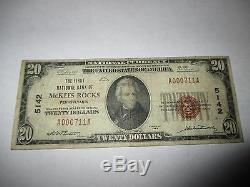 $20 1929 McKees Rocks Pennsylvania PA National Currency Bank Note Bill 5142 Fine