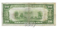 $20. 1929 National Bank PRINCETON MN National Currency Bank Note Bill #7708