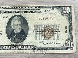 $20 1929 National Currency Milwaukee First Wisconsin National Bank Circulated