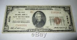 $20 1929 New Bethlehem Pennsylvania PA National Currency Bank Note Bill #4978 VF