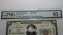 $20 1929 Opp Alabama AL National Currency Bank Note Bill 7985 Uncirculated 65EPQ