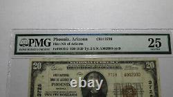 $20 1929 Phoenix Arizona AZ National Currency Bank Note Bill! Ch. #3728 VF25 PMG