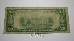 $20 1929 Pine Plains New York NY National Currency Bank Note Bill! Ch. #981 Fine