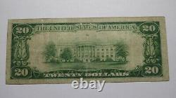 $20 1929 Portsmouth Virginia VA National Currency Bank Note Bill! Ch. #11381 VF