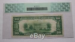 $20 1929 Reed City Michigan MI National Currency Bank Note Bill Ch. #4413 VF
