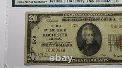 $20 1929 Rochester Minnesota MN National Currency Bank Note Bill #579 F15 PMG