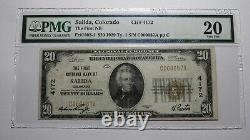 $20 1929 Salida Colorado CO National Currency Bank Note Bill Ch. #4172 VF20 PMG