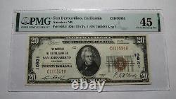 $20 1929 San Bernardino California National Currency Bank Note Bill #10931 XF45