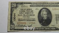 $20 1929 San Francisco California CA National Currency Bank Note Bill 13044 FINE