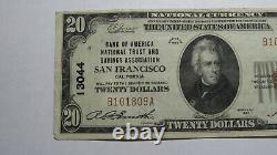 $20 1929 San Francisco California CA National Currency Bank Note Bill #13044 VF+