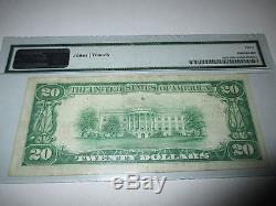 $20 1929 Scottdale Pennsylvania PA National Currency Bank Note Bill! Ch #4098 VF