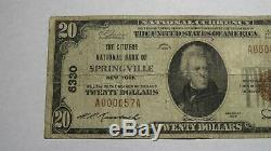 $20 1929 Springville New York NY National Currency Bank Note Bill Ch #6330 RARE